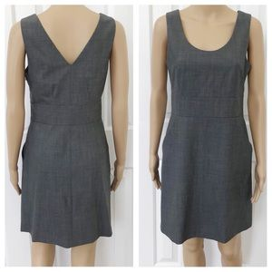 Theory A Line Side Pockets Sleeveless Mini Dress